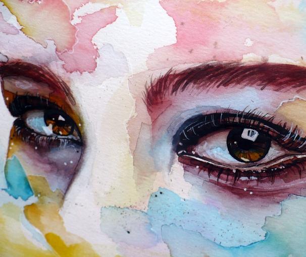 606x510 Watercolor Eye Study By Jane Beata