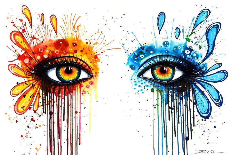 960x636 Colorful Eye Watercolor Painting Svenja