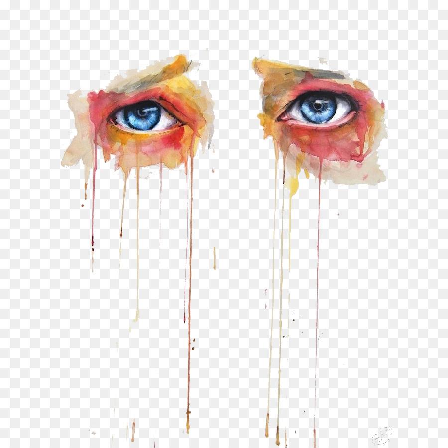 900x900 Download Visual Arts Watercolor Painting Eye Watercolor Is Afraid