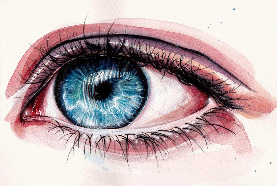 900x604 Eye Painting By Klarem