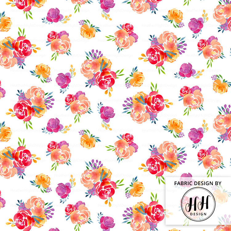 750x750 Spring Floral Fabric By The Yard Watercolor Florals Fabric