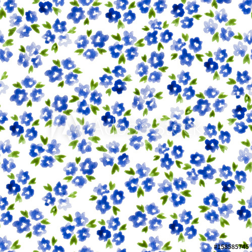 500x500 Calico Watercolor Pattern. Marvelous Seamless Cute Small Flowers