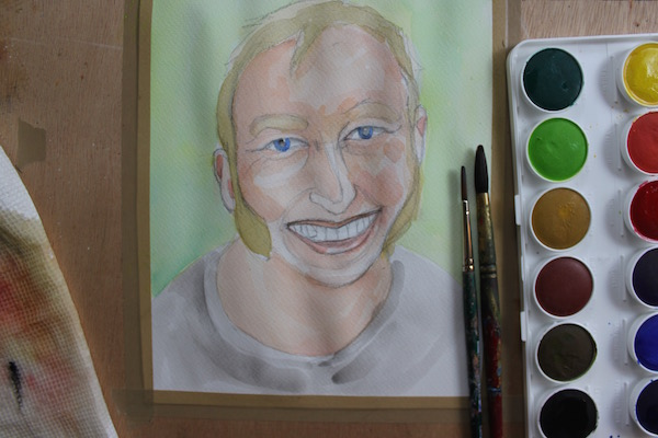 600x400 Learn The Basic Steps Of Watercolor Portrait Painting