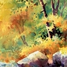 262x262 Fall Landscape Painting Watercolor Unleashed
