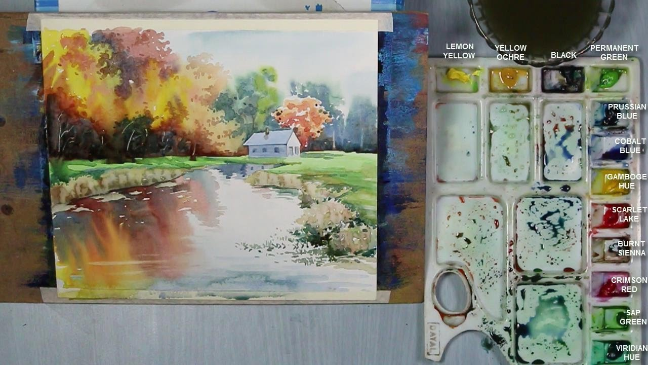 1280x720 How To Paint An Autumn Landscape In Watercolor