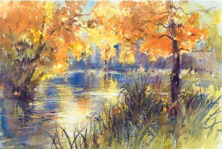 448x301 How To Paint Autumn Landscapes In Watercolour
