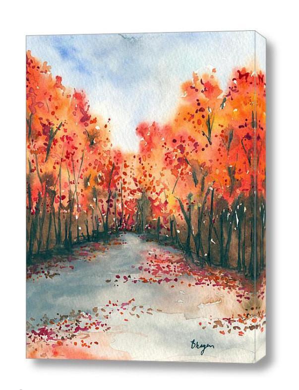 603x785 Watercolor Landscape Painting