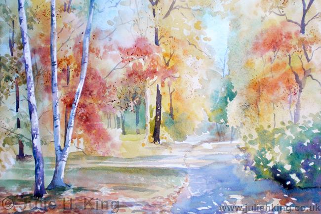 650x433 Watercolour Landscape Paintings By Julie King