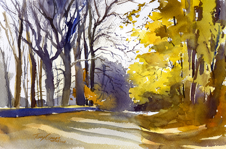 764x505 Fall Vermont Watercolor Artist Tony Conner