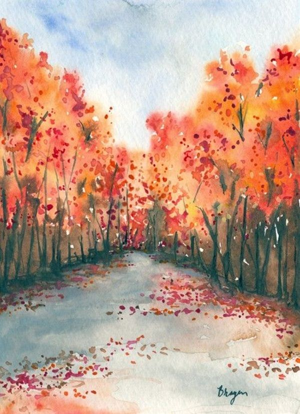 600x827 80 Simple Watercolor Painting Ideas In 2018 Painting Amp Art