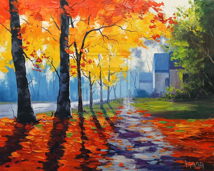 900x718 Autumn Landscape Art Project Ideas Artmuse67