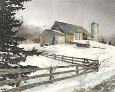 Watercolor Farm Scenes