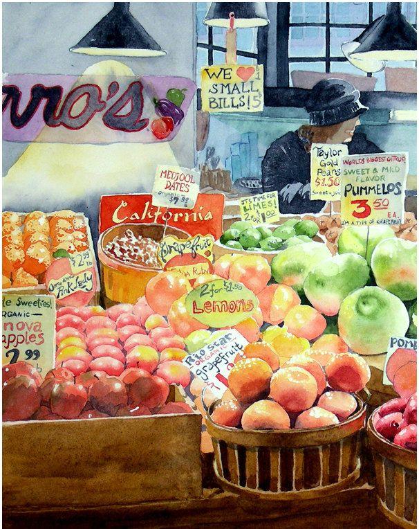 606x764 1, Kitchen Wall Art, Fruit Wall Art, Food Art Print, Colorful
