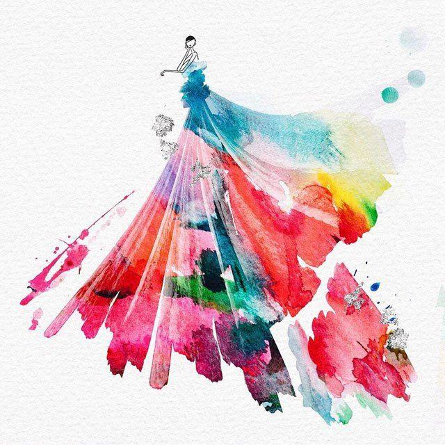 Watercolor Fashion Design