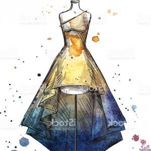 300x300 Stock Illustration Watercolor Fashion Illustration Girl In