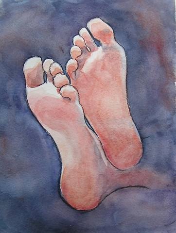 Watercolor Feet