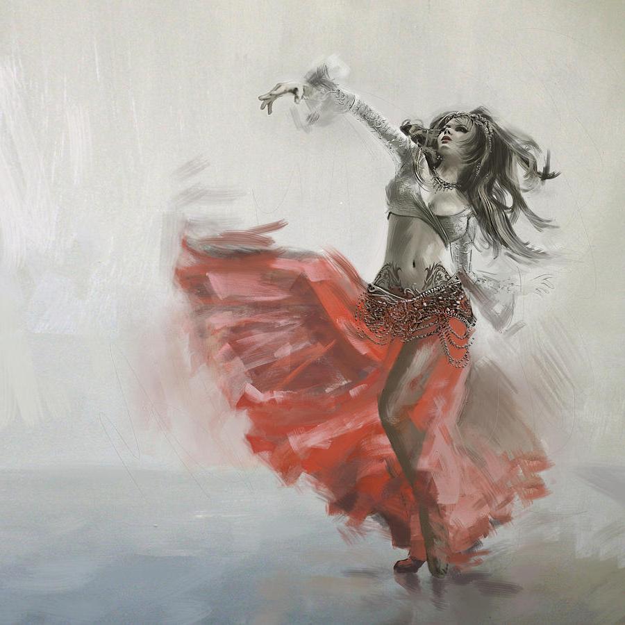 900x900 Watercolor Paintings Of Dancers Belly Dancer Paintings Fine Art