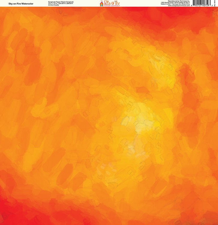 727x750 Ella And Viv Paper Company Painted Sky On Fire Watercolor Paper
