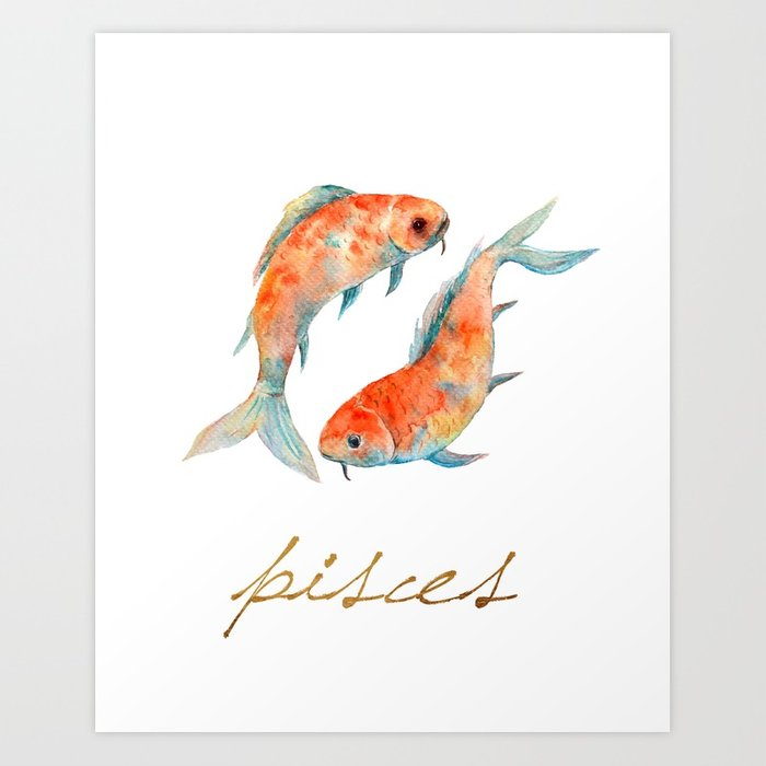 700x700 Watercolor Pisces Koi Fish Art Print By Missquoted Society6