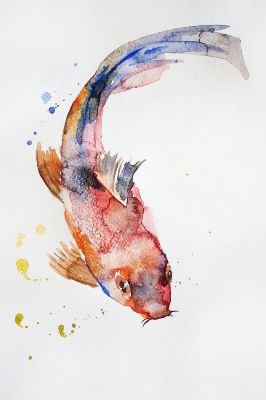 900x1350 Watercolor Fish Paintings Watercolor Fish Paintings Original