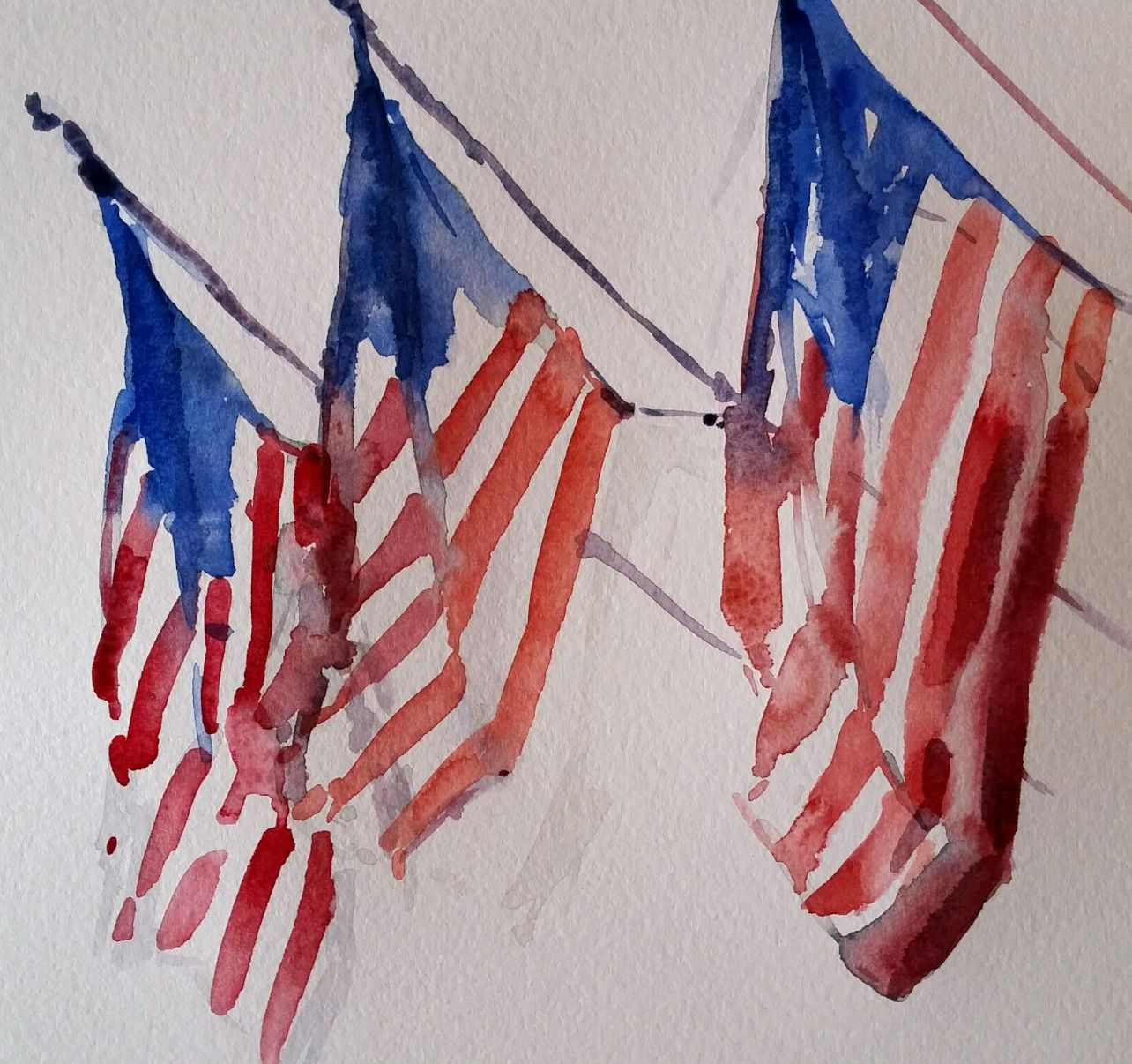 1284x1206 Image Result For Watercolor Pics Of The American Flag 4th 0f