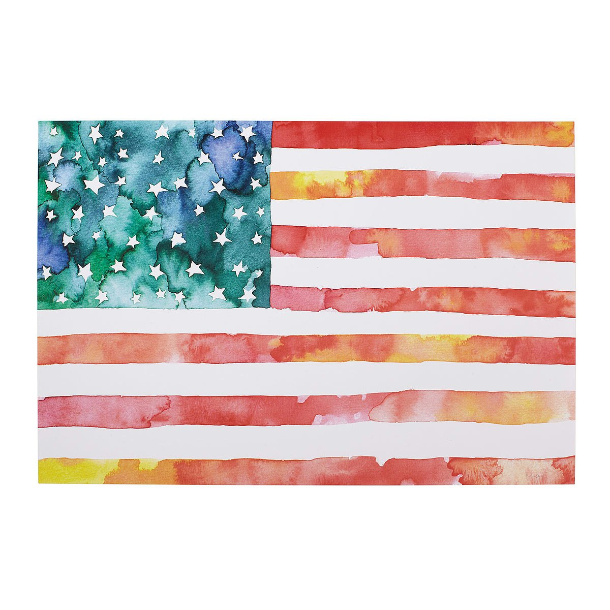 1200x1200 American Flag Watercolor American Flag Painting, Art Uncommongoods