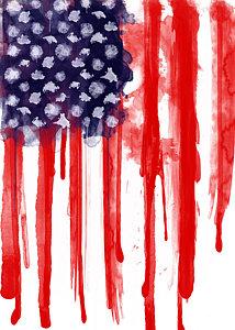 214x300 American Flag Watercolor Posters Fine Art America