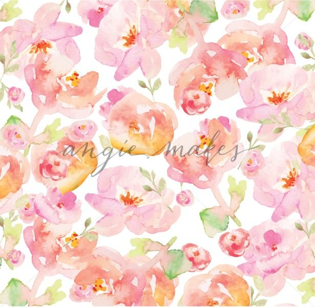616x600 Tropical Watercolor Flower Background. Watercolor Floral Background