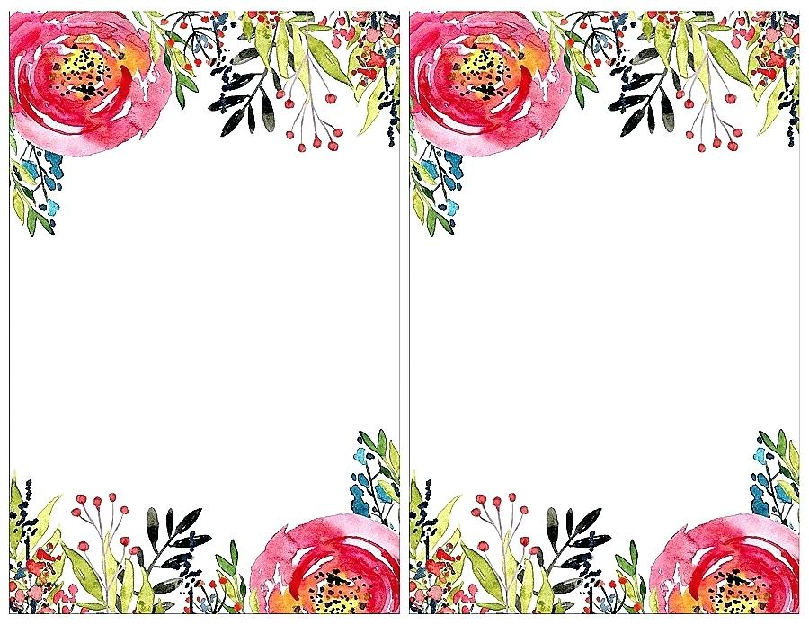 900x695 Floral Template Watercolor Floral Template For Wedding Cards