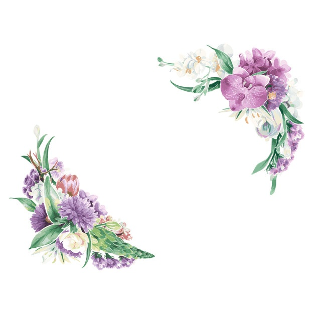 picture about Watercolor Floral Border Paper Printable titled Watercolor Bouquets Absolutely free Template - Bouquets Healthful