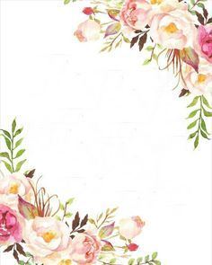picture about Printable Watercolor Paper referred to as Watercolor Floral Border Paper Printable at