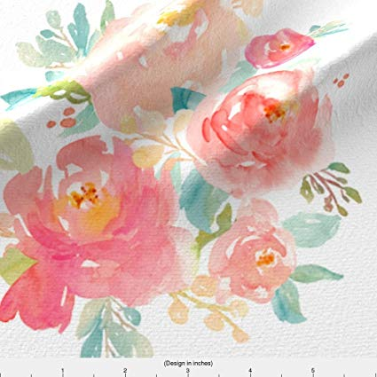 425x425 Spoonflower Floral Fabric Floral Sweet Pastel