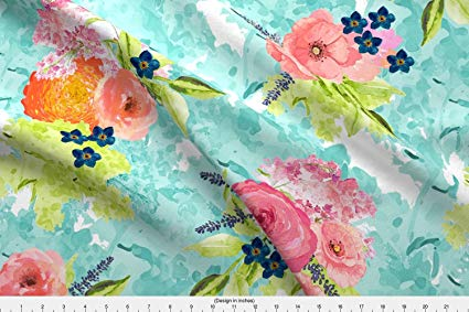 425x283 Spoonflower Floral Fabric Watercolor Floral By