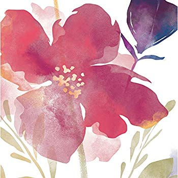 350x350 Cypress Home Watercolor Floral Paper Cocktail Napkin
