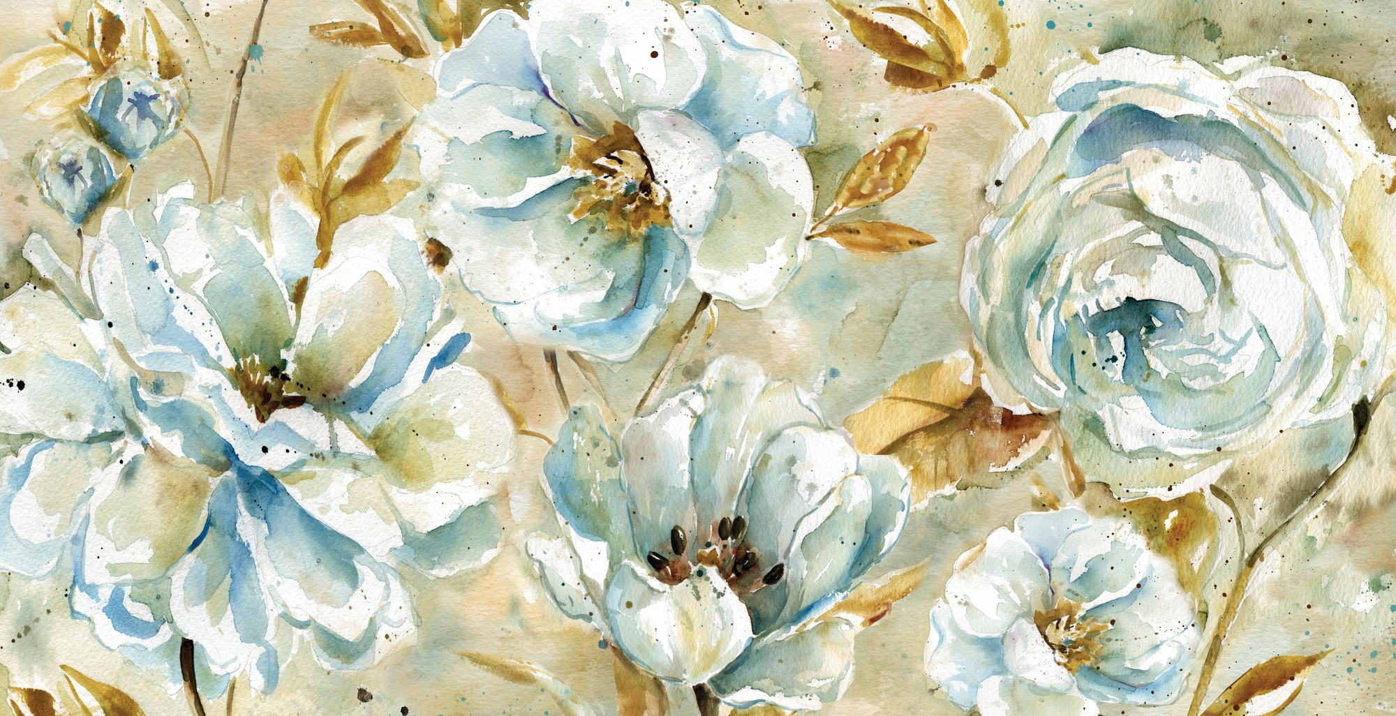 Watercolor Floral Wallpaper At Getdrawings Free Download