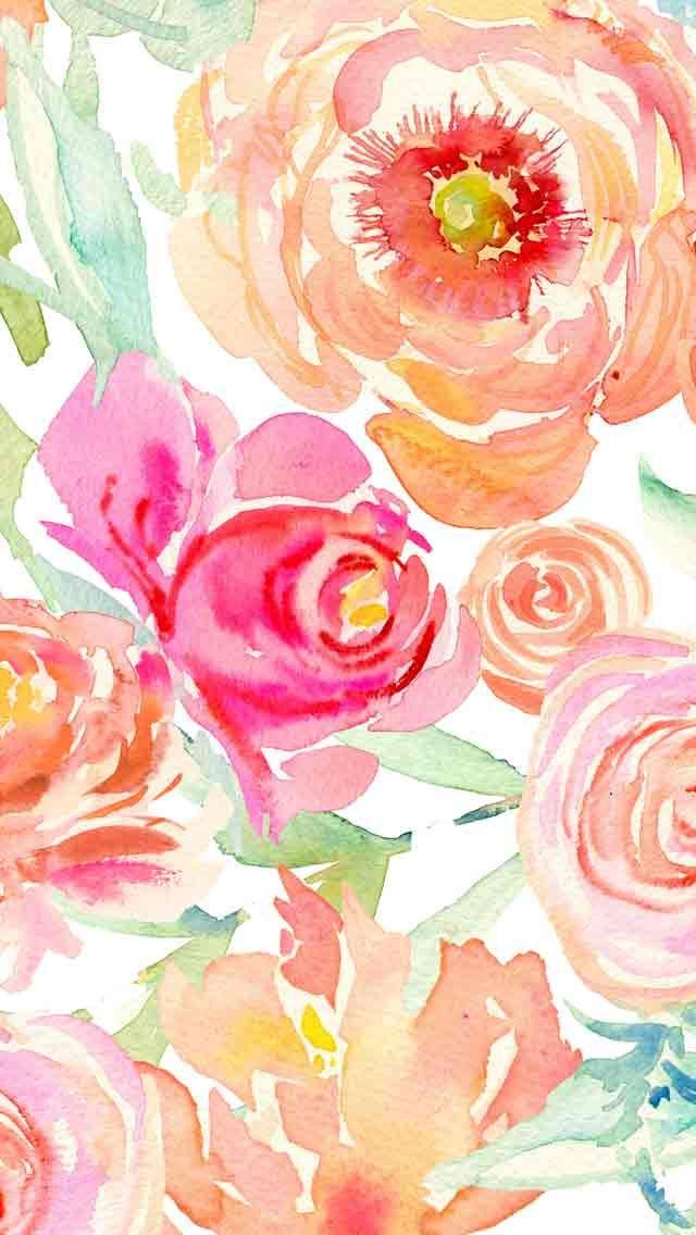 Watercolor Floral Wallpaper At Getdrawings Com Free For