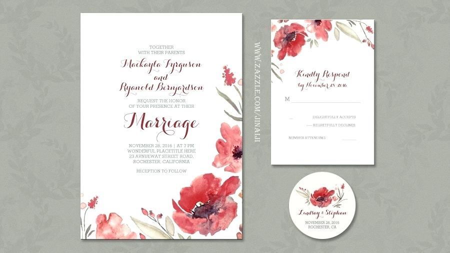 900x507 Inspirational Watercolor Floral Wedding Invitations For Floral