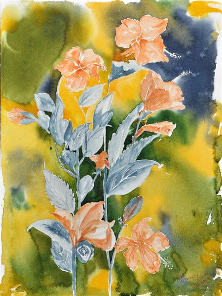 450x600 Watercolor Flowers, Watercolor Flower Painting, Watercolor Art