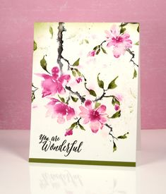 Watercolor Flower Card