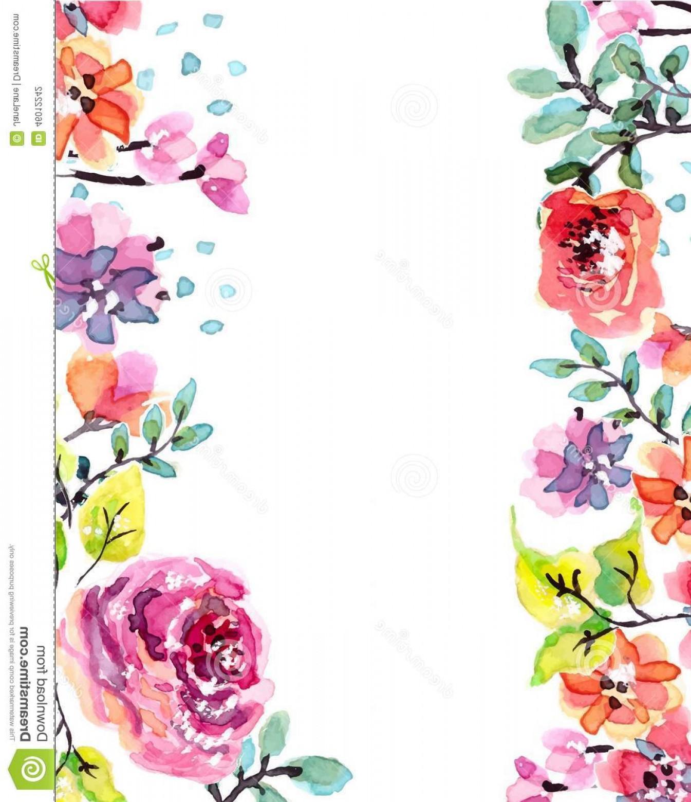 Watercolor Flower Frame At Getdrawings Free Download