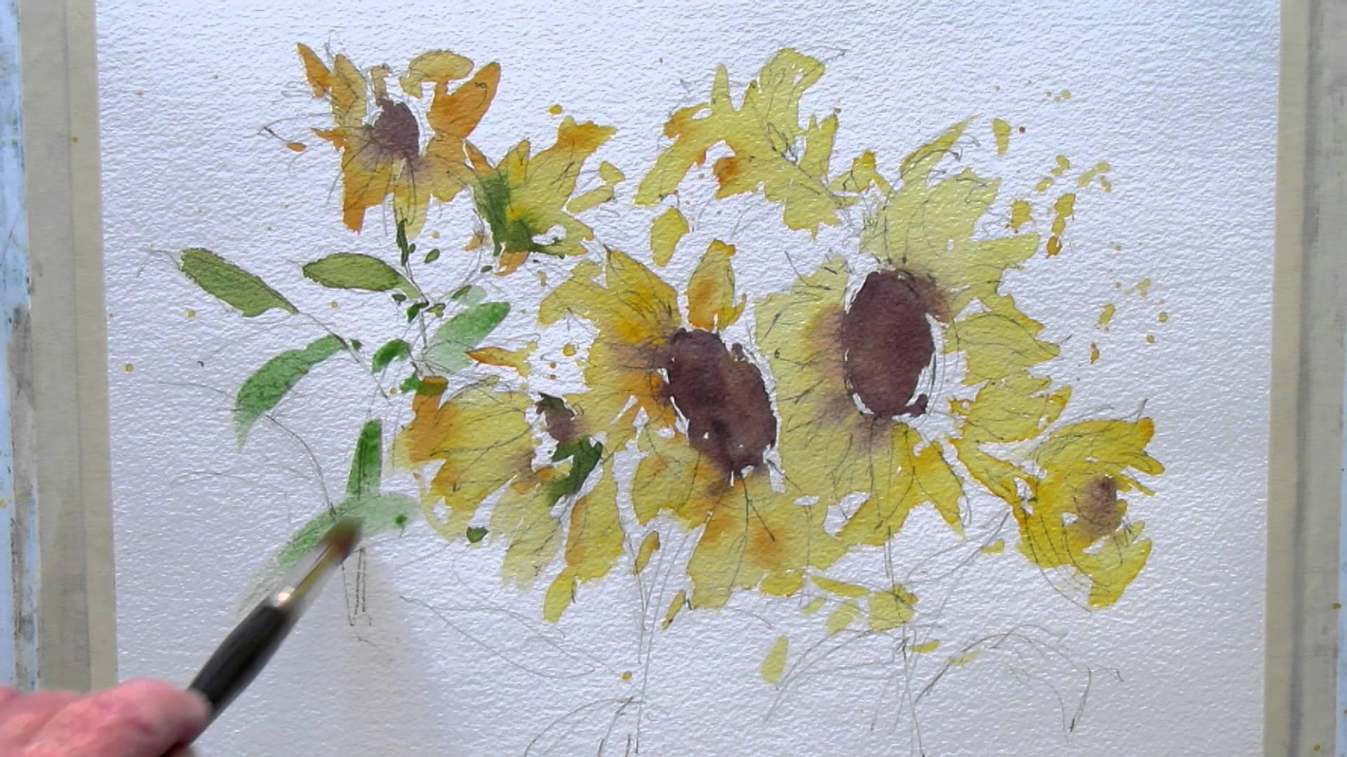 1920x1080 Loose Watercolor Flowers