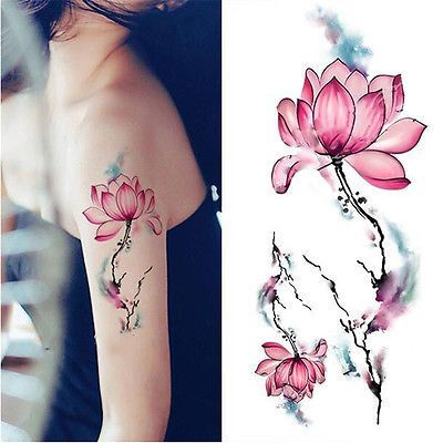 f98bf7a47 Watercolor Flower Tattoo at GetDrawings.com | Free for personal use ...