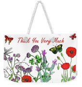 170x180 Thank You Very Much Card Watercolor Flowers And Butterflies