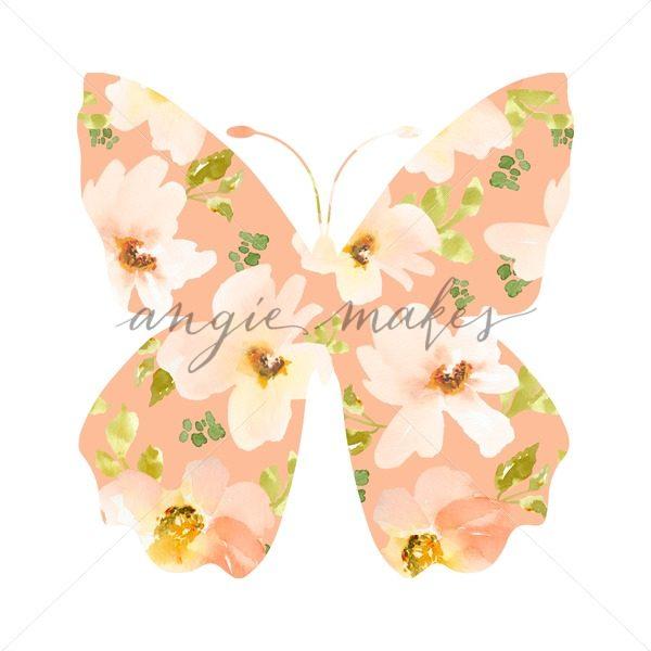 600x600 Watercolor Flower Butterfly. Butterfly Made Of Flowers.