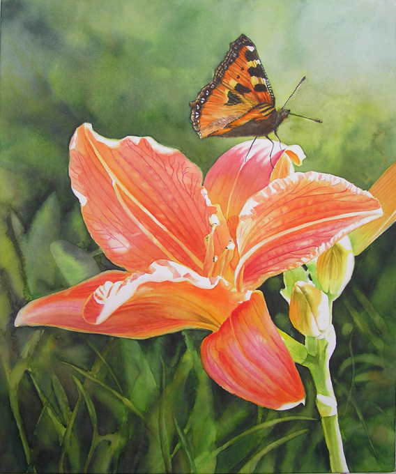 568x680 Watercolor Flower Painting