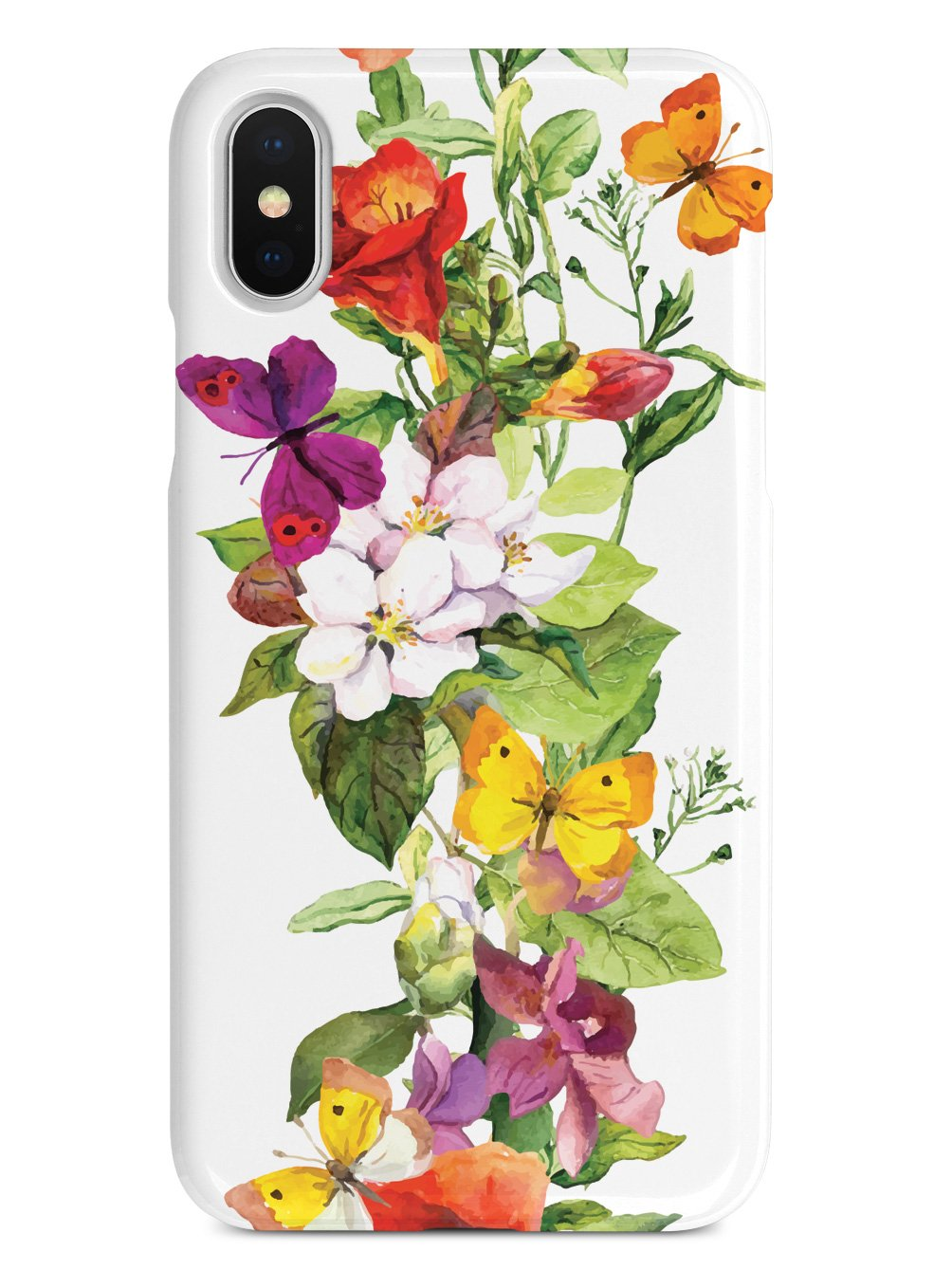 1004x1339 Watercolor Flowers And Butterflies Case Inspiredcases