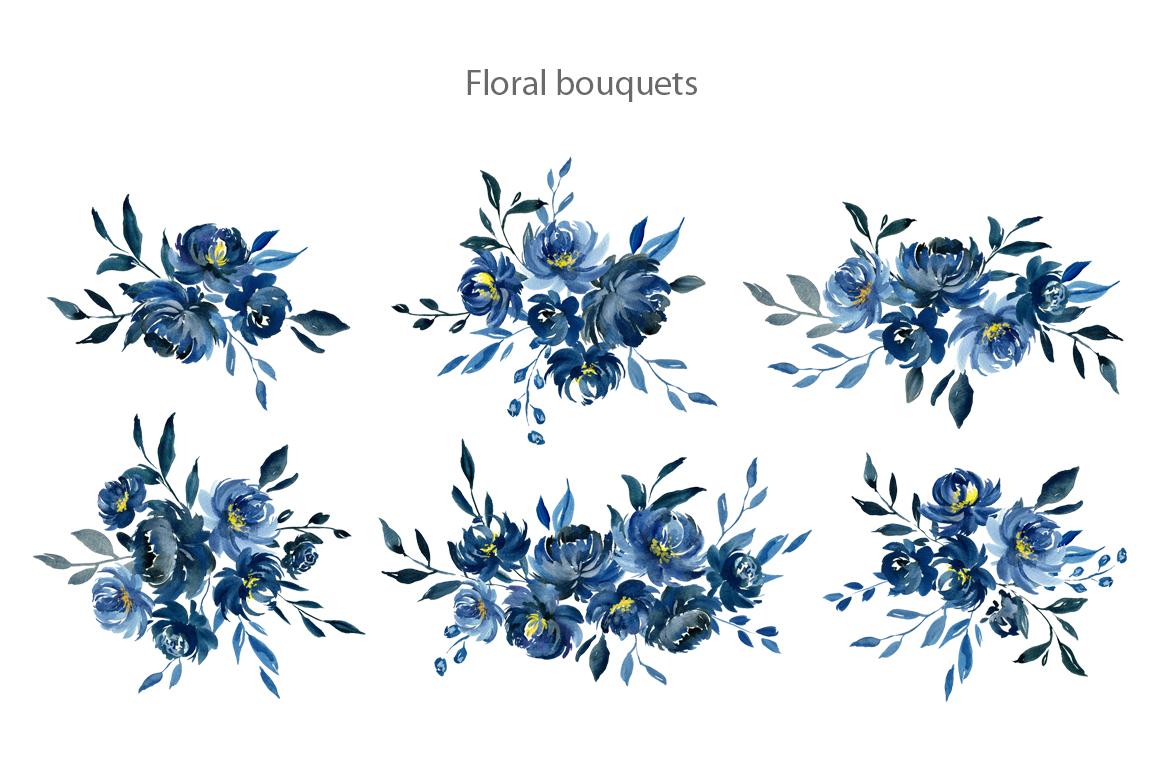 Top Ten Blue Watercolor Flowers Png Bahar Kish