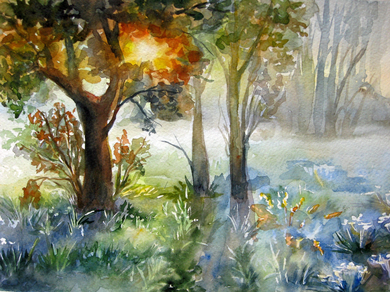 3000x2250 Original Landscape Painting Forest Landscape Original Art Nature