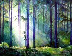 236x185 Watercolor Forest Landscape Inspirational Forest Landscape