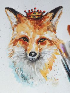 236x314 23 Best Watercolor Fox Images In 2018 Foxes